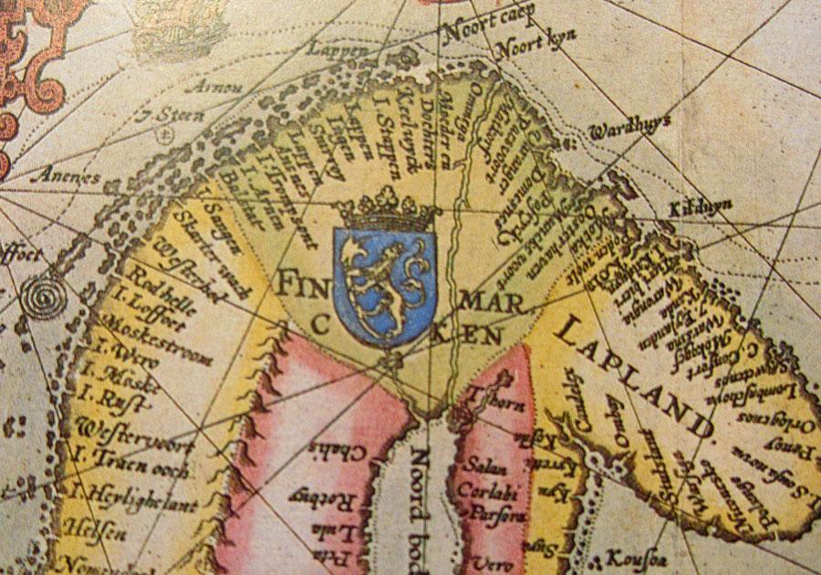 kart over nordkalotten (udg.): Hans H. Lilienskiold: Trolldlom og ugudelighet i 1600 tallets  kart over nordkalotten